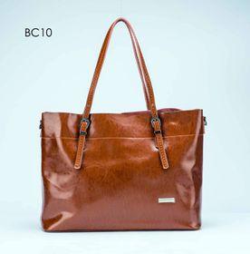 Brad Scott Leather Buckle Bag - Tan