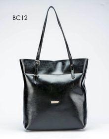 Brad Scott Leather Buckle Shopper Bag - Black