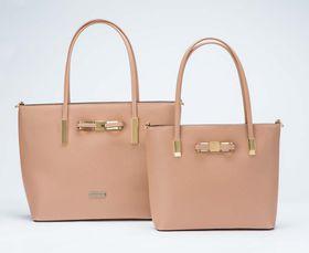 Brad Scott Bow Bag Set Of Two - Pink