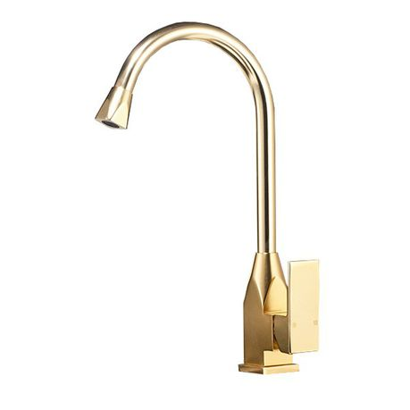 Single Handle Kitchen Sink Faucet Gold Color Buy Online In South