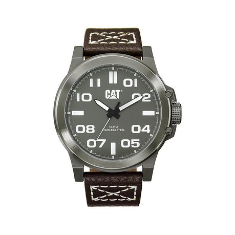 3c6765b83f8 Cat Men s Stainless Steel   Leather Strap Watch.