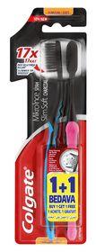 Colgate Slim Soft Charcoal Toothbrush - 2 Pack