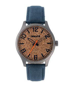 Tomato Men's Cork Gunmetal Blue Watch