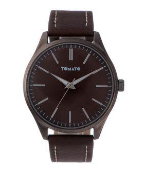 Tomato Men's Brown & Gunmetal Watch