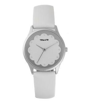 Tomato Women's White & Silver Scallop Watch