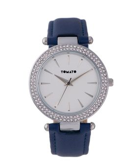 Tomato Women's Blue Silver & Stone Watch