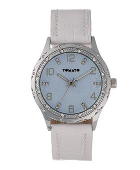 Tomato Women's White Silver & Stone Watch