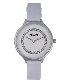 Tomato Women's White & Silver Stone Watch