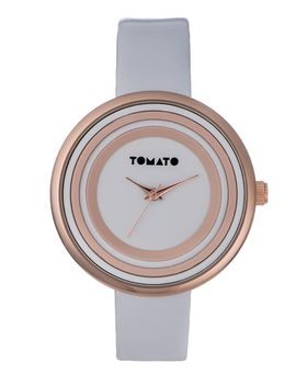 Tomato Women's White & Rose Gold Watch