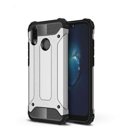 online store 8dfab 5ae63 Shockproof Armor Case for Huawei P20 Lite - Silver