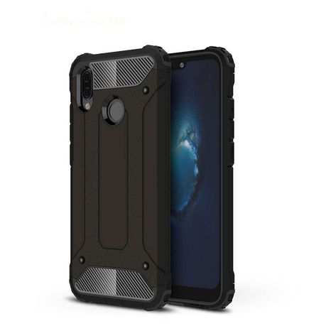 factory authentic c81d2 81394 Shockproof Armor Case for Huawei P20 Lite - Black
