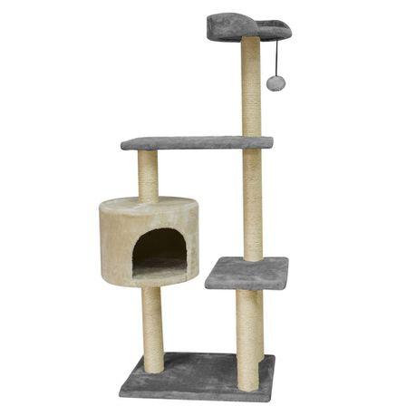 Rex Deluxe Tower Cat Scratch Grey Cream Buy Online In South