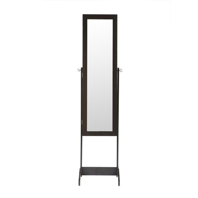 Hazlo Jewellery Storage Cabinet With Full Length Mirror Brown