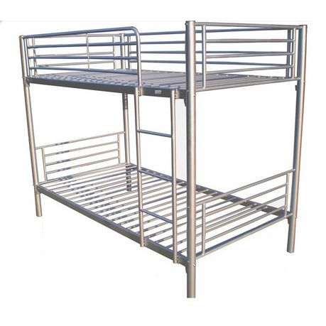 Hazlo Roma Single Over Metal Bunk Bed With Ladder Silver Buy