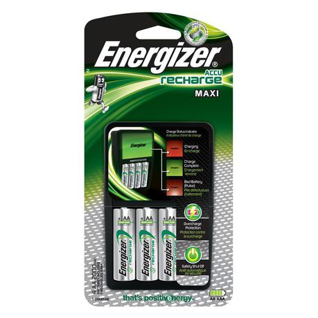 a5e3a3493ffe35 Energizer Maxi Charger & 4x NiMH AA 2000mAh Batteries | Buy Online in South  Africa | takealot.com