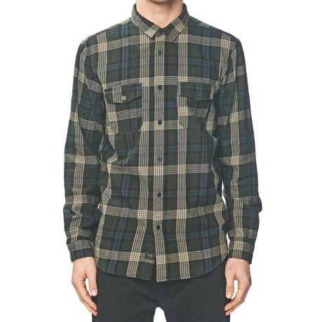 7d5d0f00074 Globe Men s Flanigan Long Sleeve Shirt - Shadow