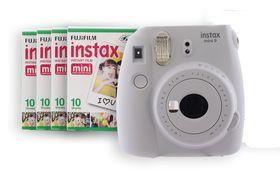 Fujifilm Instax Mini 9 Camera & Film Value Bundle - Smokey White