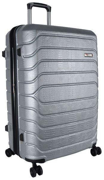 Voss ABS 75cm Hard Case 4 Wheels - Silver
