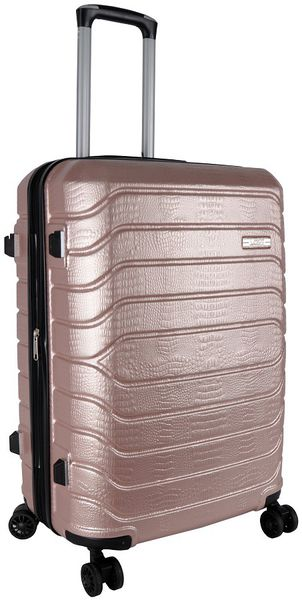 Voss ABS 65cm Hard Case 4 Wheels - Rose Gold