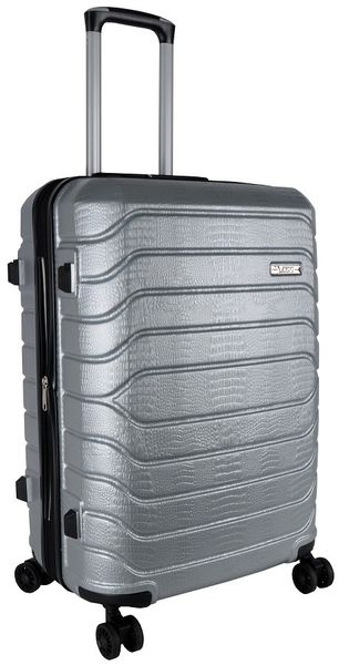 Voss ABS 65cm Hard Case 4 Wheels - Silver