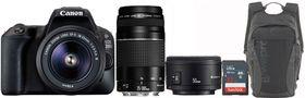 Canon 200D DSLR Triple Lens Value Bundle