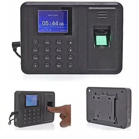 Fingerprint Time Attendance Machine - Black