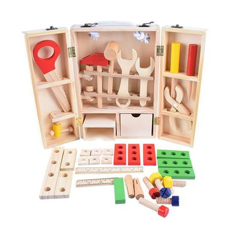 Wooden Carpenter Tools Set For Kids 43 Piece Buy Online In South