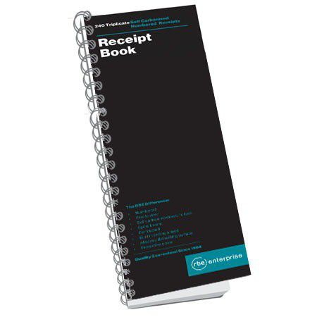 rbe receipt book triplicate 240 numbered 5 to view 300x110 buy