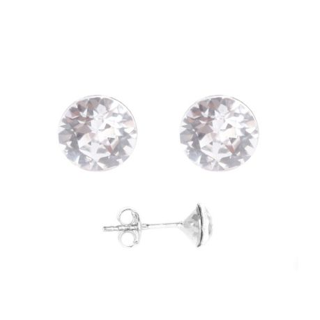 K Crystals Swarovski Element Chaton Earrings Crystal