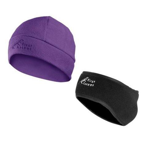 269150d3f24 First Accent Ladies Earmuff Beanie - Purple