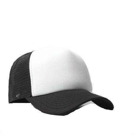 45ecb5323e2c4 Uflex Curved Peak Trucker Cap - White   Black