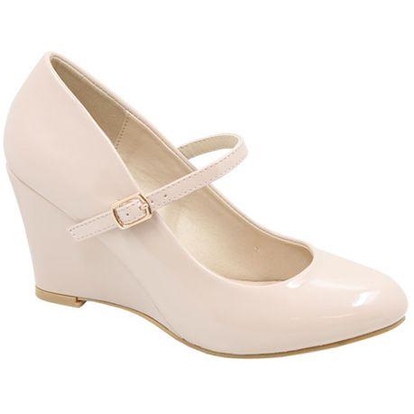 c827ec8e755b Jada Women s Patent Wedge Shoes - Nude