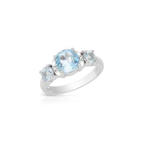Miss Jewels 2 33ct Blue Topaz Silver Promise Ring Buy Online In