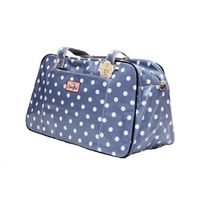 Cotton Road Powder Blue Polka Travel Bag