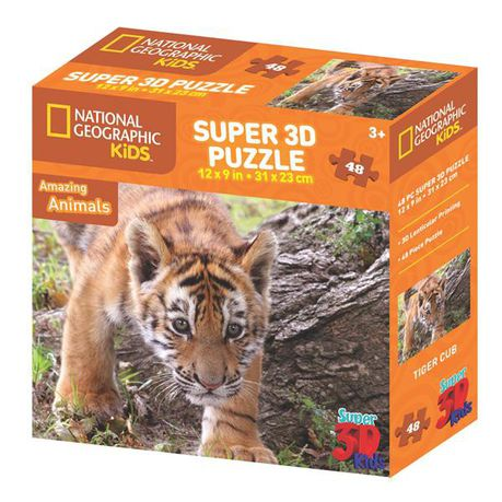 National Geographic Tiger 3d Puzzle 48 Piece Buy Online In South