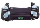 GetUp Running Boost Belt with Two Water Bottles - Black