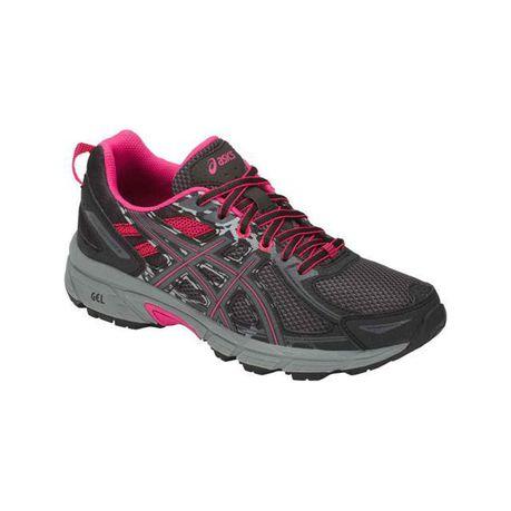 040778468256 ASICS Women s Gel-Venture 6 Trail Running Shoes - Grey Pink