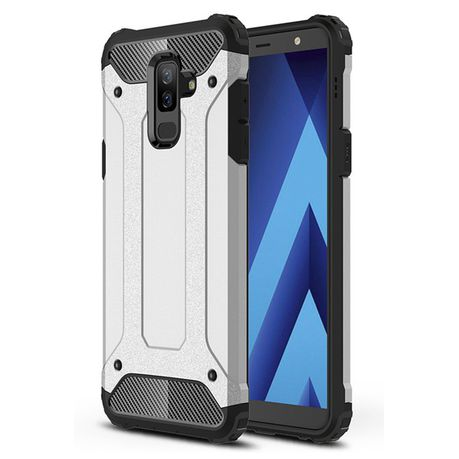 low priced 05f5f 1f7b7 Shockproof Armor Case for Samsung Galaxy A6+ - Silver (2018)