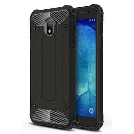 new arrival 97c8f b59f4 Shockproof Armor Case for Samsung Galaxy J4 - Black
