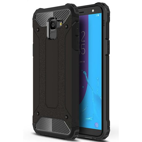 the latest 12a03 749df Shockproof Armor Case for Samsung Galaxy J6 - Black