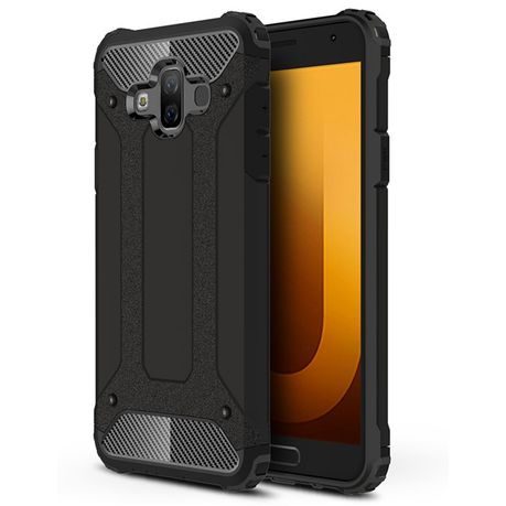 lowest price 77f42 babde Shockproof Armor Case for Samsung Galaxy J7 Duo - Black