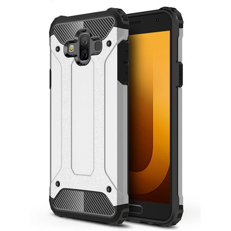 official photos 0a9f2 3acc4 Shockproof Armor Case for Samsung Galaxy J7 Duo - Silver