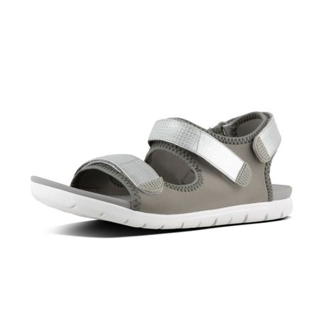 6e407d0dc FitFlop Neoflex Back Strap Sandal - Soft Grey Silver