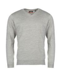 2e6402daddf551 Pierre Cardin Men's V-Neck Knit Jumper - Grey Marl [Parallel Import]