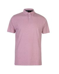 d0e3646b83 Pierre Cardin Men's All Over Print Jersey Polo Shirt - Berry [Parallel  Import]