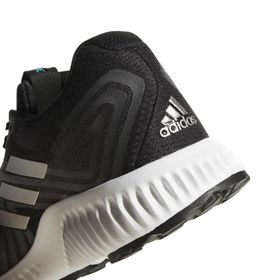 adidas Men s Aerobounce 2 Running Shoes - Black Silver Aqua  8b546e0fb