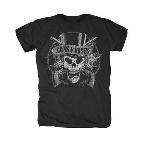 6dda539c6 RockTs Guns N' Roses Top Hat Greyscale T-Shirt