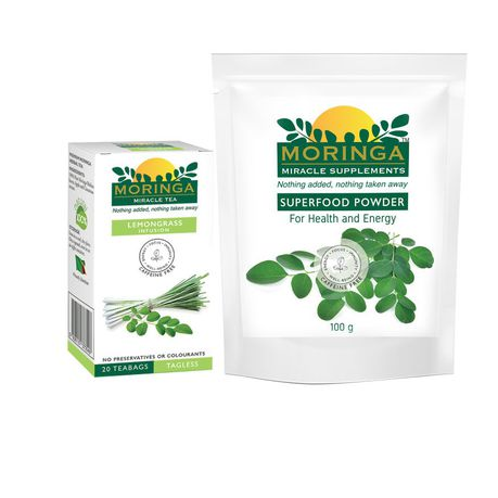 Moringa Powder and Lemongrass Infused Tea