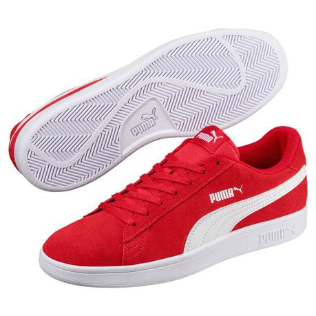 Puma Men's Smash V2 Tennis Inspired Shoes RedWhite