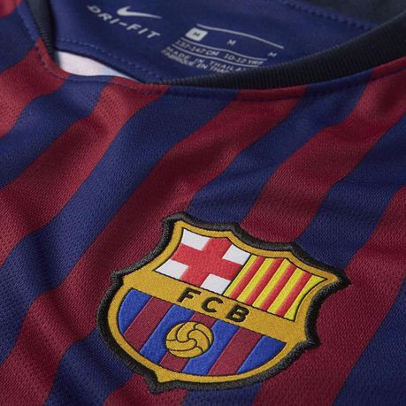 competitive price 4099b a6773 Nike Junior FC Barcelona Home Replica Jersey | Buy Online in ...